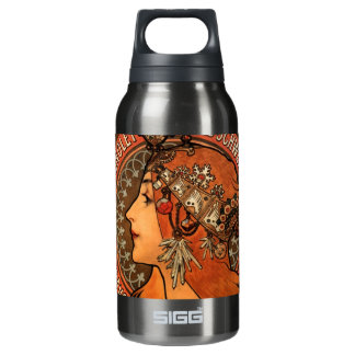 Soap factory of Bagnolet - Alphonse Mucha Insulated Water Bottle