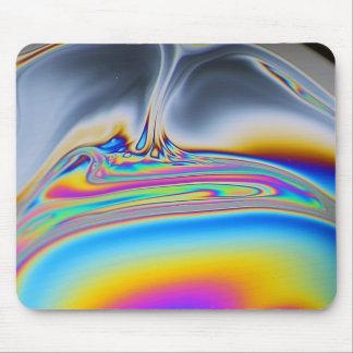 Soap film macro photo mouse pad