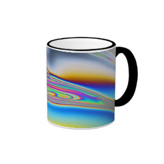 Soap film macro photo ringer mug