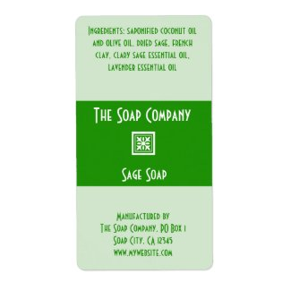 Soap Label - Sage Green