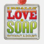 Soap Love Face Christmas Tree Ornaments