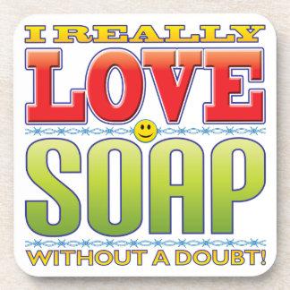 Soap Love Face Drink Coaster