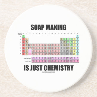 Soap Making Is Just Chemistry (Periodic Table) Beverage Coasters