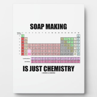 Soap Making Is Just Chemistry (Periodic Table) Display Plaques