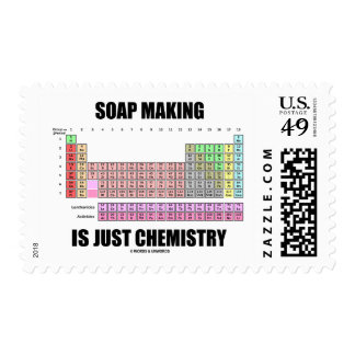 Soap Making Is Just Chemistry (Periodic Table) Postage