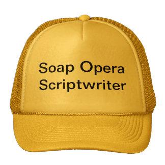 Soap opera scriptwriter trucker hat