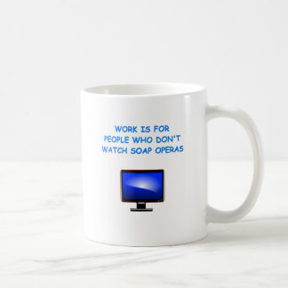 soap operas classic white coffee mug