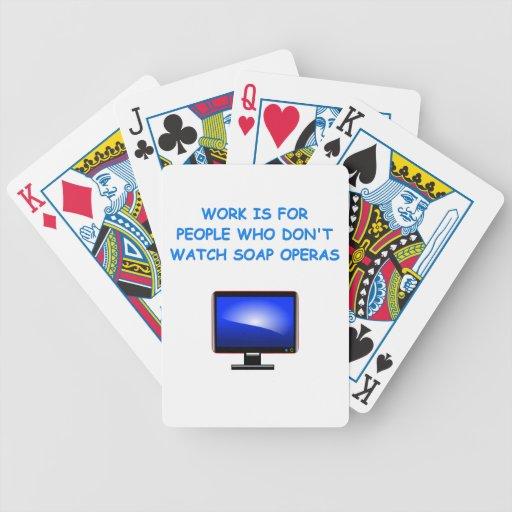 soap operas poker deck