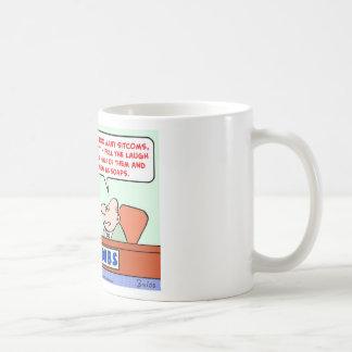 soap operas sitcoms coffee mug