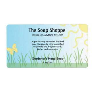 Soap Product Label - Garden