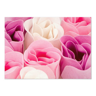 Soap roses 5x7 paper invitation card
