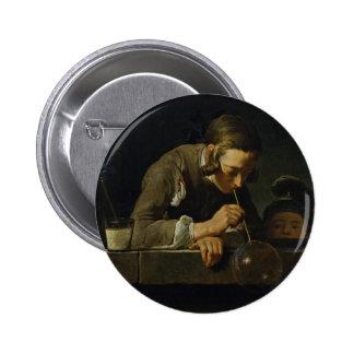 Soap Wind By Chardin Jean-Baptiste Siméon (Best Qu 2 Inch Round Button