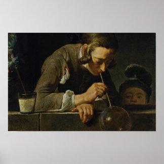 Soap Wind By Chardin Jean-Baptiste Siméon (Best Qu Posters