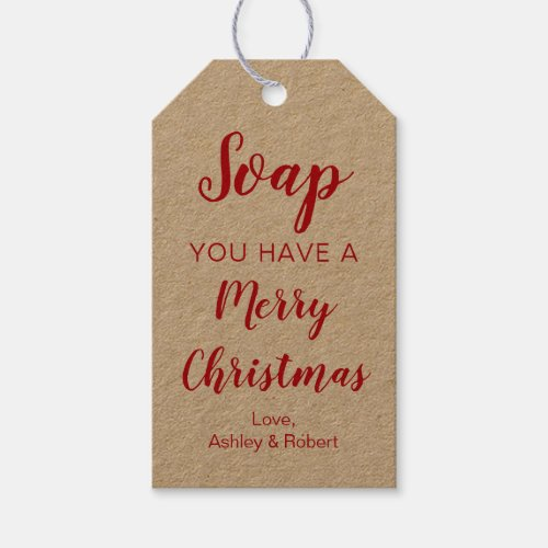 Soap You Have a Merry Christmas Gift Tags