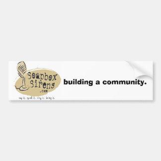 Soapbox Sirens Bumper Sticker