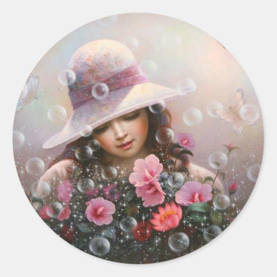 soapbubble girl - Sharon's Song Classic Round Sticker