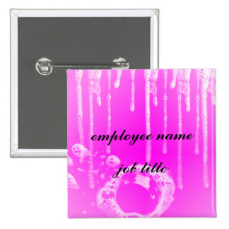 Soaped Pink Employee Name Tag Button