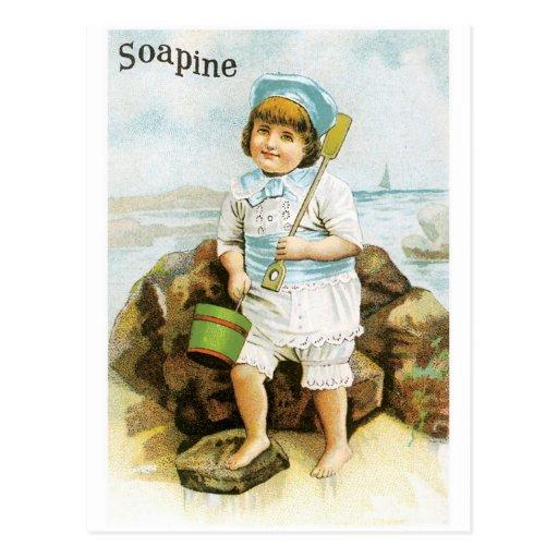 Soapine - Boy with Pail Postcard