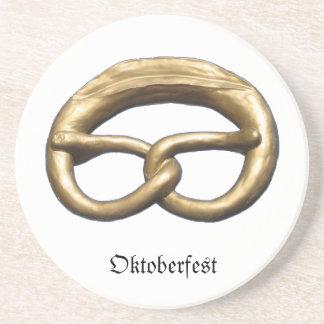 Soapstone Coaster: Oktoberfest Pretzel Bakery Sign Drink Coaster