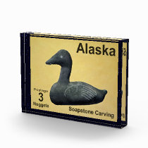 Soapstone Eider - Alaska Postage Photo Block