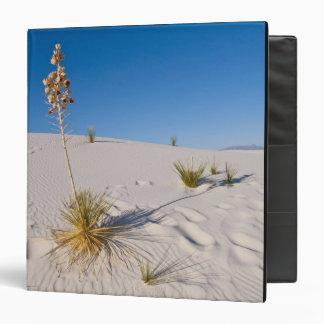 Soaptree Yucca, long Shadow, Transverse Dunes 3 Ring Binder