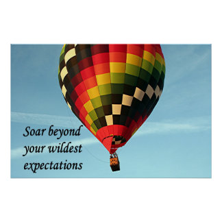 Soar beyond your wildest expectations 3 poster