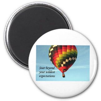 Soar beyond your wildest expectations: balloon 1 2 inch round magnet