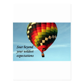 Soar beyond your wildest expectations: balloon 1 postcard