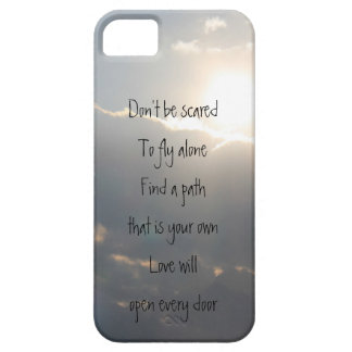 Soar...Don't be scared to fly alone, Sun in Clouds iPhone SE/5/5s Case