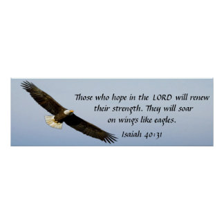 Soar like an eagle bible verse Isaiah 40:31 poster