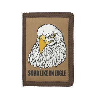 Soar Like an Eagle Tri-fold Wallets
