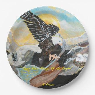 """""""Soar Like Wings Of An Eagle."""" 9"""" inch Paper Plate"""
