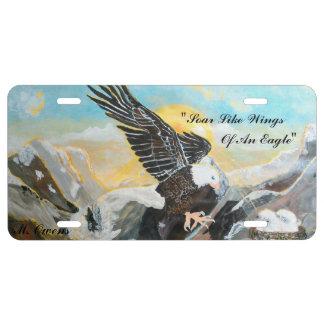 Soar Like Wings Of An Eagle Aluminum License Plate