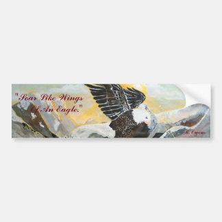 """""""Soar Like Wings Of An Eagle."""" Bumper Sticker"""