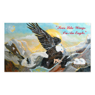 """Soar Like Wings Of An Eagle."" Business Cards"