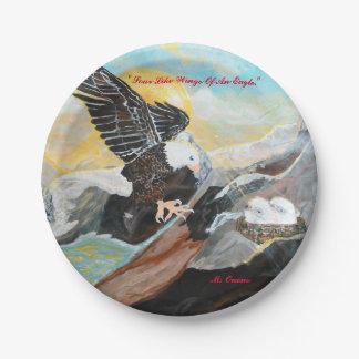 """""""Soar Like Wings Of An Eagle"""" Paper Plates"""