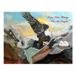 """""""Soar Like Wings Of An Eagle."""" Postcards"""