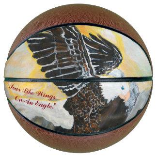 """Soar Like Wings On An Eagle."" Basketball"