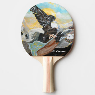 """""""Soar Like Wings On An Eagle"""" Ping Pong Paddle"""