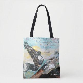 """Soar Like Wings On An Eagle"" Tote Bag"