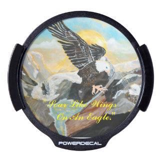 """""""Soar Like Wings On An Eagle."""" Window Decal"""