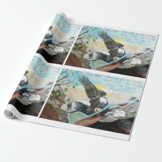 """""""Soar Like Wings On An Eagle"""" Wrapping Paper"""