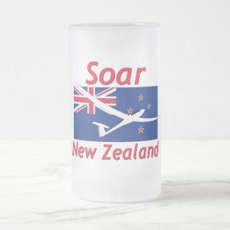 Soar New Zealand 16 Oz Frosted Glass Beer Mug