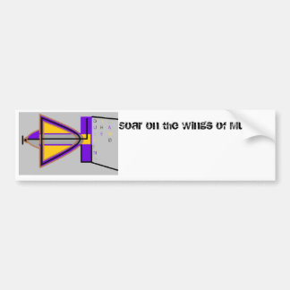Soar on the Wings of Music w/ Dusting the Land Bumper Sticker