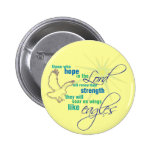 Soar on Wings Christian Scripture button/badge 2 Inch Round Button