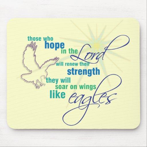 Soar on Wings Christian Scripture mousepad