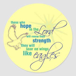 Soar on Wings Christian Scripture stickers