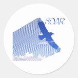 Soar Round Sticker