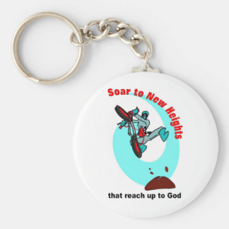 Soar to new heights that reach up to God Basic Round Button Keychain