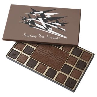 Soar To Success Art Deco Geometric Birds 45 Piece Box Of Chocolates